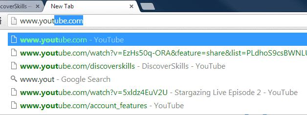 Entering a URL