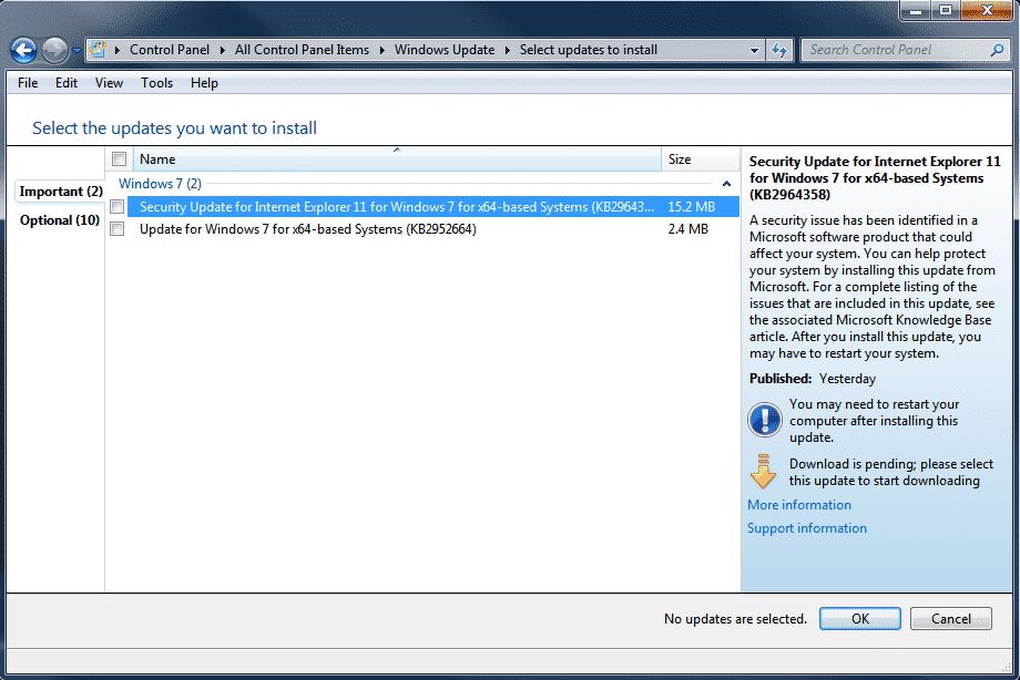 Windows 7 - Windows Update available02