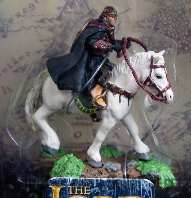Lord of the Rings Armies of the Middle Earth Gondorian Horseman Figure with Flag Playalong