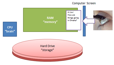 Everything You See and Do is up in the Computer Memory