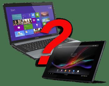 tablet versus laptop