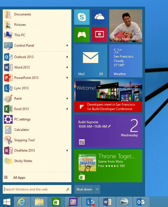 What the Windows 9 Start Menu might look like
