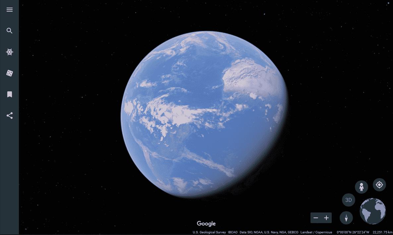 Google Earth Main Page