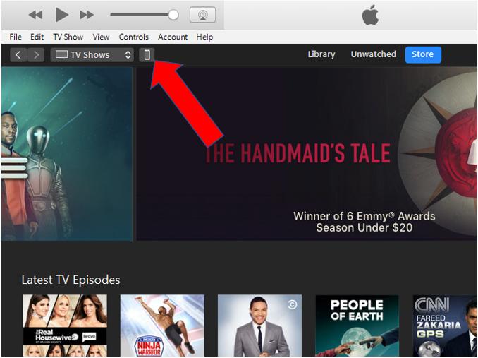 iTunes Screen 1